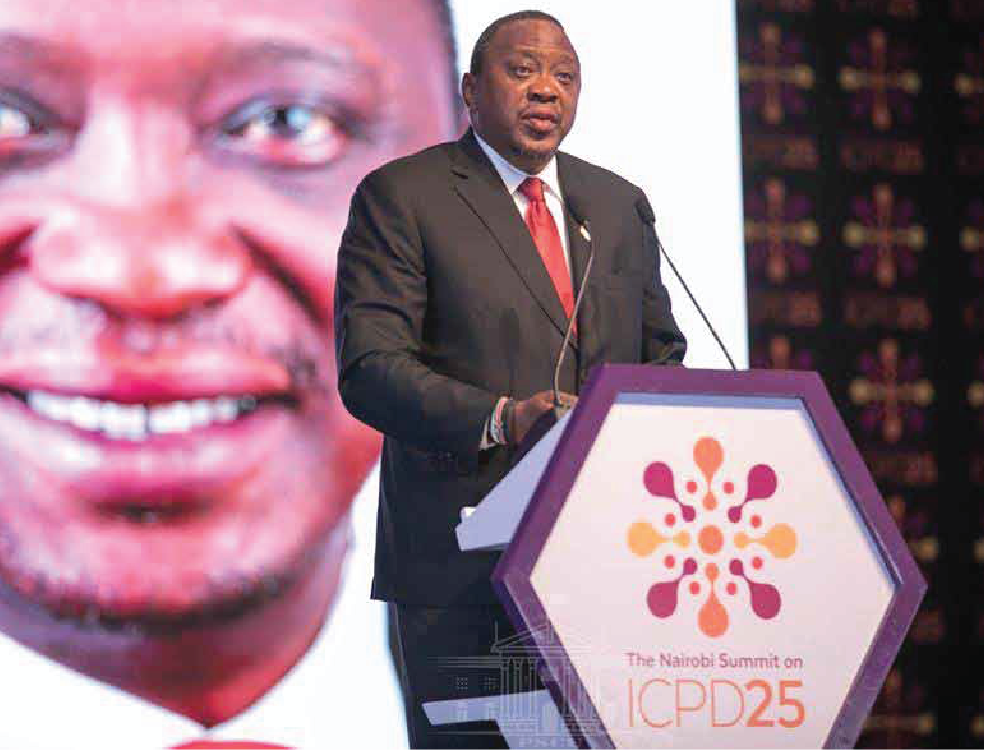 H.E Uhuru Kenyatta  President of the Republic of Kenya