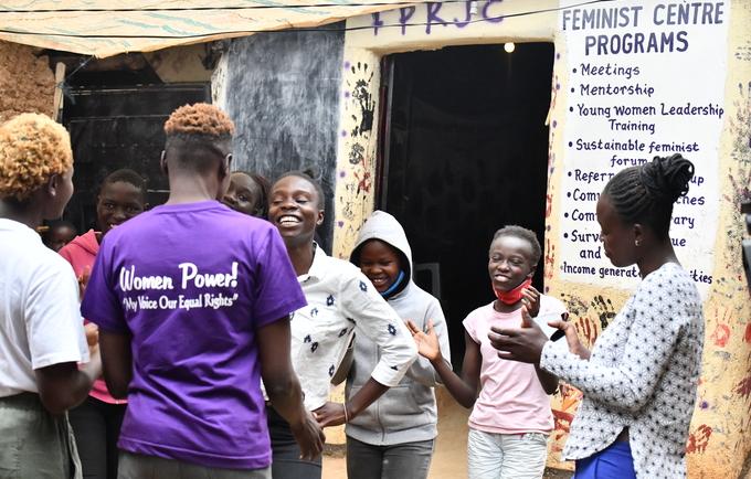 Women at the Feminist Centre in Kibera Nairobi