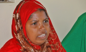 Aisha Tiro Bahero almost lost her life as a result of pregnancy related complications. Photo by UNFPA / Douglas Waudo.