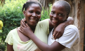 Purity Bahati (left) and Naomi Kitsao (right) teen mothers in Kilifii County. Data from past studies show that about 13,000 girls drop out of school each year in Kenya due to pregnancy. Photo By UNFPA Kenya / Doulgas Waudo.